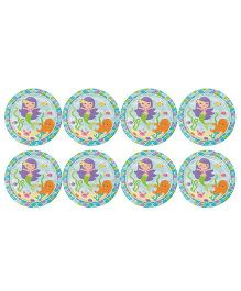 Celebration Essentials Paper Plate Mermaid Print Pack of 8 - Multi Color
