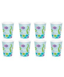 Celebration Essentials Paper Cups Mermaid Design Pack of 8 - Blue