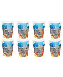 Celebration Essentials Paper Cups Dragon Design Pack of 8 - Blue