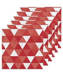 Celebration Essentials Luncheon Napkins Triangle Fractal Design Pack of 16 - Maroon