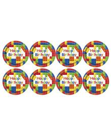 Celebration Essentials Paper Plate Triangle Print Pack of 8 - Multi Color