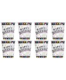 Celebration Essentials Paper Cups Star Design Pack of 8 - Black