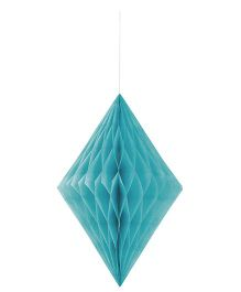 Celebration Essentials Diamond Shape Hanging Tissue Honeycomb - Blue