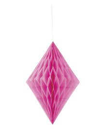 Celebration Essentials Diamond Shape Hanging Tissue Honeycomb - Pink