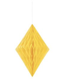 Celebration Essentials Diamond Shape Hanging Tissue Honeycomb - Yellow