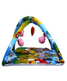 Babies Bloom Play Gym With Mosquito Net Angry Bird Print - Mulitcolour