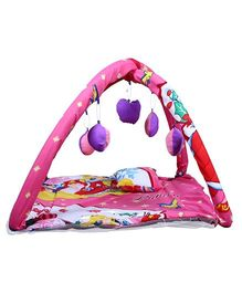 Babies Bloom Play Gym With Mosquito Net Princess Design - Pink Purple