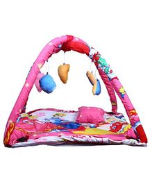 Babies Bloom Play Gym With Mosquito Net Princess Design - Pink Blue