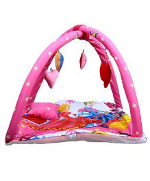 Babies Bloom Play Gym With Mosquito Net Princess Design - Pink Red
