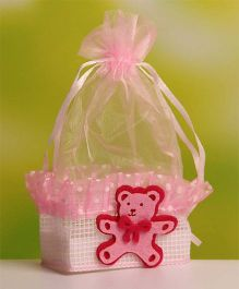 Babies Bloom Candy Bag Party Favor Teddy Patch Set of 12 - Pink