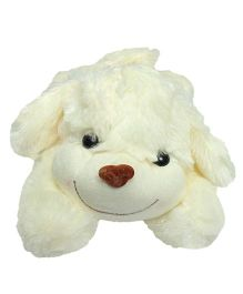Babies Bloom Puppy Dog Soft Toy White - 20 cm