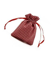 Babies Bloom Gingham Pattern Bag Party Favors Set of 24 - Red