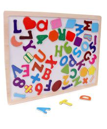Smiles Creation Puzzle Cum Writing Board - Multi Colour