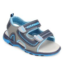 Cute Walk by Babyhug Sandals Dual Velcro Closure - Blue Grey