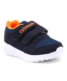Cute Walk by Babyhug Sports Shoes Velcro Closure - Navy Blue