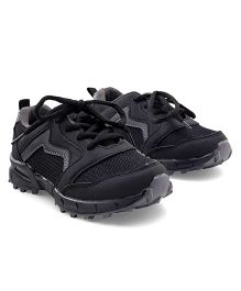 Cute Walk by Babyhug Lace Up Sports Shoes - Black