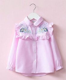 Pre Order - Awabox Embroidered Shirt - Pink