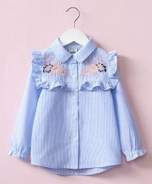 Pre Order - Awabox Embroidered Shirt - Light Blue