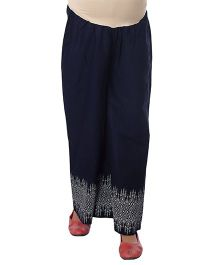 Kriti Full Length Maternity Palazzo With Tummy Hug - Navy Blue