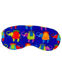 The Crazy My Eye Mask Elephant Print - Blue