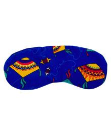 The Crazy My Eye Mask Kite Print - Blue