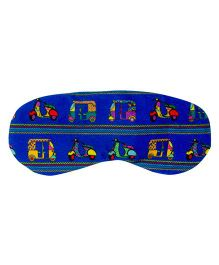 The Crazy My Eye Mask Vehicle Print - Dark Blue