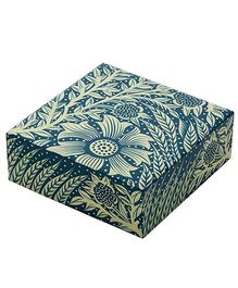 The Crazy Me Hand Painted Wooden Jewellery Box Floral Design - Blue Yellow