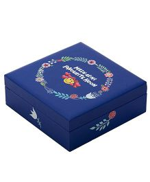 The Crazy Me Hand Painted Wooden Jewellery Box - Blue