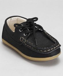 Cute Walk by Babyhug Lace Up Shoes - Black