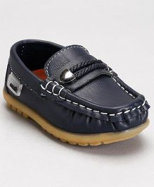 Cute Walk by Babyhug Loafer Shoes - Navy