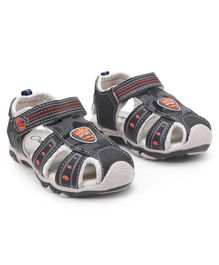 Cute Walk by Babyhug Sandals With Velcro Closure - Black Grey