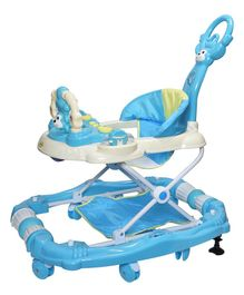 Notty Ride Rocking Musical Adjustable Walker Cum Rocker - Blue