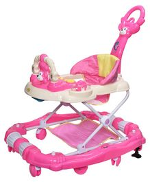Notty Ride Rocking Musical Adjustable Walker Cum Rocker - Pink