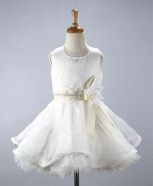 M'Princess Frilly Dress - White