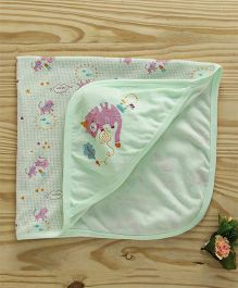 Simply Hooded Wrapper Kitty Design - Green