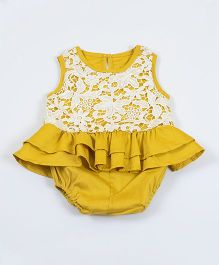 Pre Order - Awabox Lace Design Onesie - Yellow