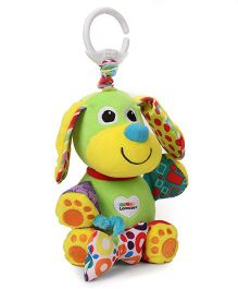 Lamaze Funskool Puppy Clip-on Soft Toy With Bow Green - 3 cm