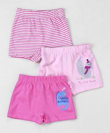 Ohms Shorts Pack of 3 - Pink