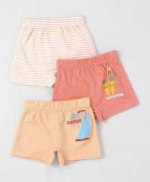 Ohms Shorts Pack of 3 - Peach & Coral