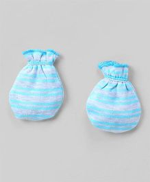 Ohms Mittens Stripes Print - Blue
