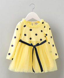 Pre Order - Tickles 4 U Polka Dots Frock- Yellow