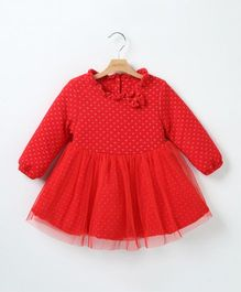 Pre Order - Tickles 4 U Thick Winter Frock- Red