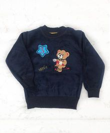 Pre Order - Tickles 4 U Teddy Sweater- Blue
