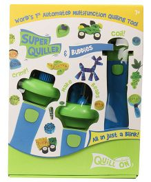 Quill On Automated Tool With Free 75 Assorted Beads & 200 Quilling Strips - Blue Green