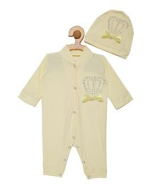 Fairies Forever Crown Jewel Romper Set - Yellow