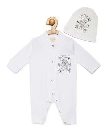 Fairies Forever Teddy Jewel Romper Set - White