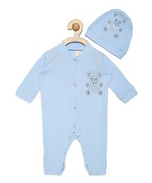 Fairies Forever Teddy Jewel Romper Set  - Blue