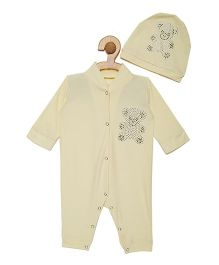 Fairies Forever Teddy Jewel Romper Set - Yellow