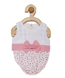 Fairies Forever Floral Onesie - White & Pink (0 to 6 Month)