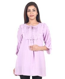 9teenAGAIN Women Woven Maternity Top  - Mauve